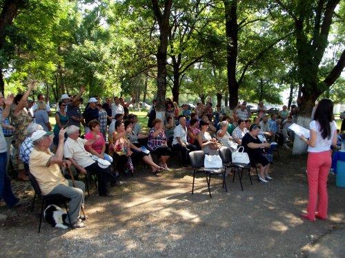 Шапсугская, сход жителей 13 июля 2013 против добычи мергеля