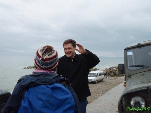 (2011.03.23) Сочи, Е.Витишко во время блокады строительных работ на мысе Видный